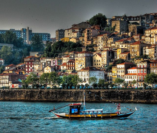Barco Rabelo (Porto) is an old-fashioned, flat-bottomed, square-sailed boats carried port from vineyards in the Douro Valley.