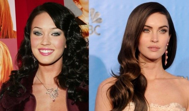 Face plastic surgery - nose and lips - Megan Fox – Before and After