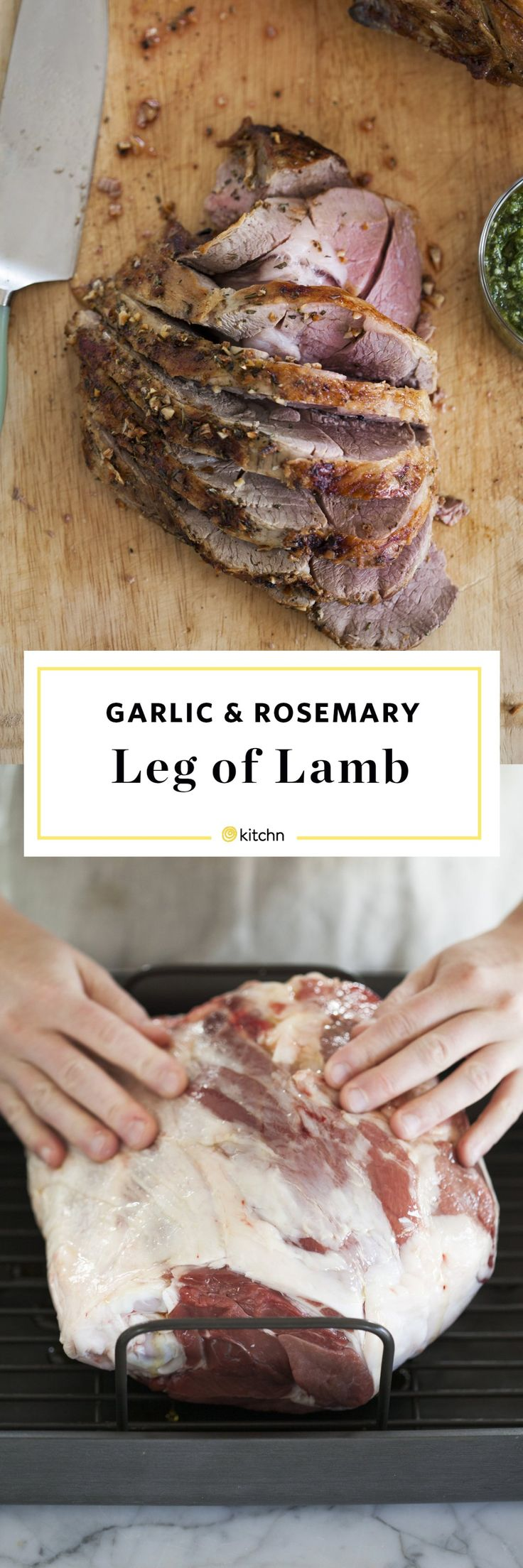 How To Roast a Leg of Lamb. This garlic and rosemary leg of lamb roast recipe is perfect for cold weather or dinners for holidays like easter, christmas, or passover. Buying bone in is important, boneless doesn't have as much flavor. We love it roasted in ovens!