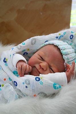 *TSD* Reborn baby boy newborn by elisa marx hand, rooted slumberland, peeky eyes