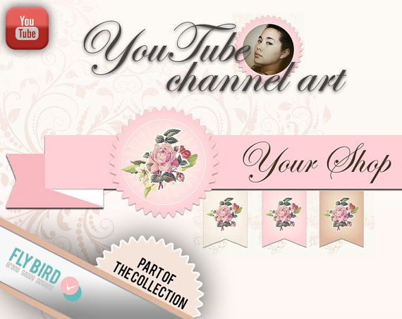 YouTube banner and profile pictures  channel by FlyBirdBranding, €8.50