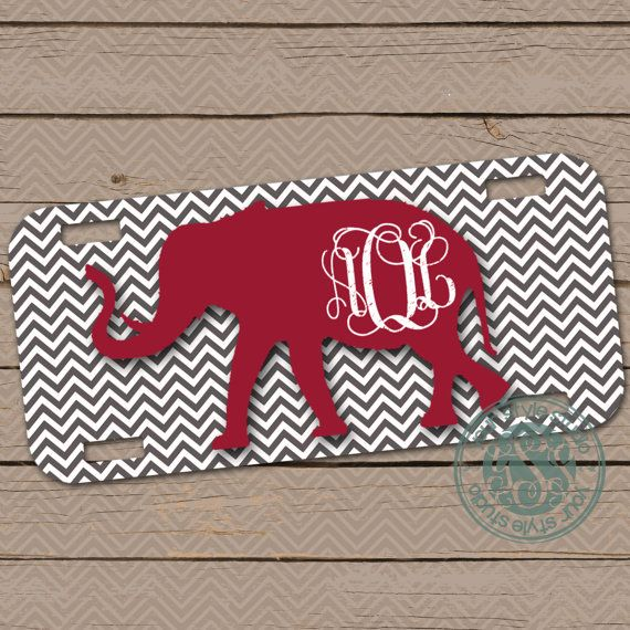 Personalized License Plate  Car Tag  Alabama  by YourStyleStudio