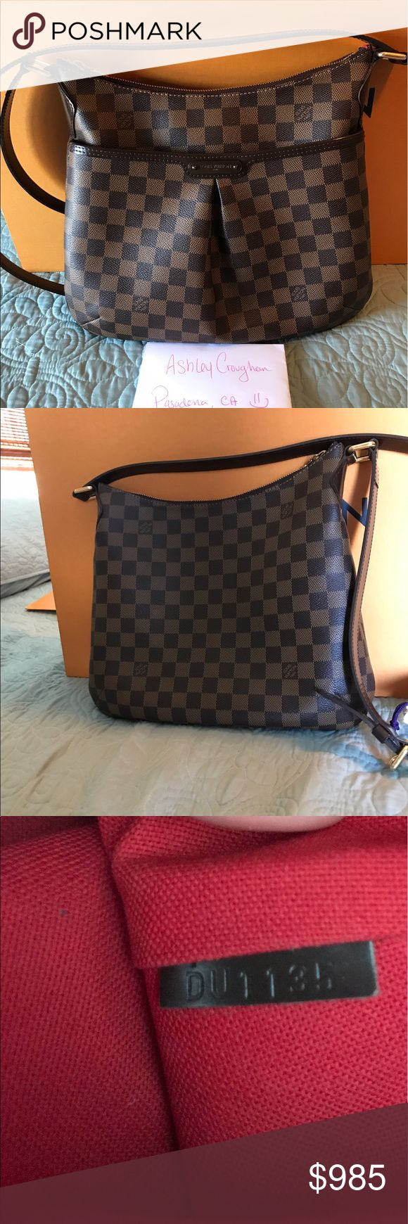 🌸Authentic Louis Vuitton Bloomsbury Pm 🅿️ay 🅿️al  invoiced only due to high fees 😏 Date code DU1135 Made in France  Sold out online This beauty is in great condition!  *Hardware still shiny  *zipper works perfect *no rips or tears on canvas  *Interior is clean accept for a light white mark inside front pocket. See pics.  *slight rubbing on corners nothing major.  Only comes with non Lv dust bag as shown in pics. Thanks for looking! 💕😊 Louis Vuitton Bags Crossbody Bags