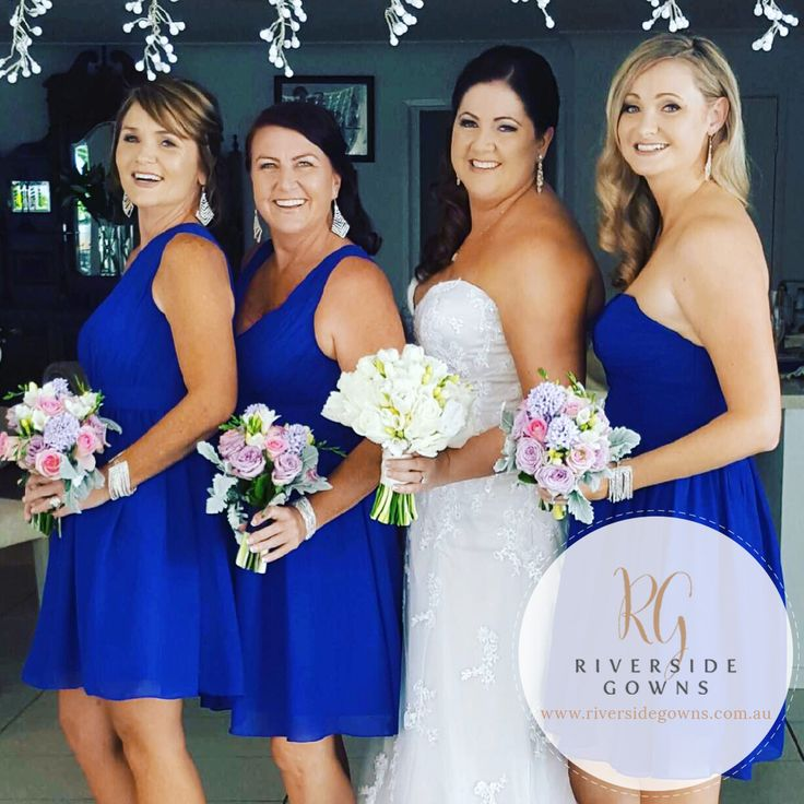 These gorgeous custom-made bridesmaids dresses and bridal gown are an example of what you could get with our incredible Bridal Package Deal. Contact us to find out more - www.riversidegowns.com.au