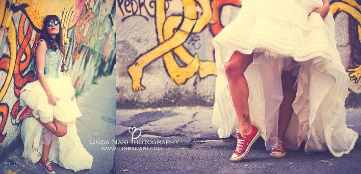 trash the dress, bride graffity