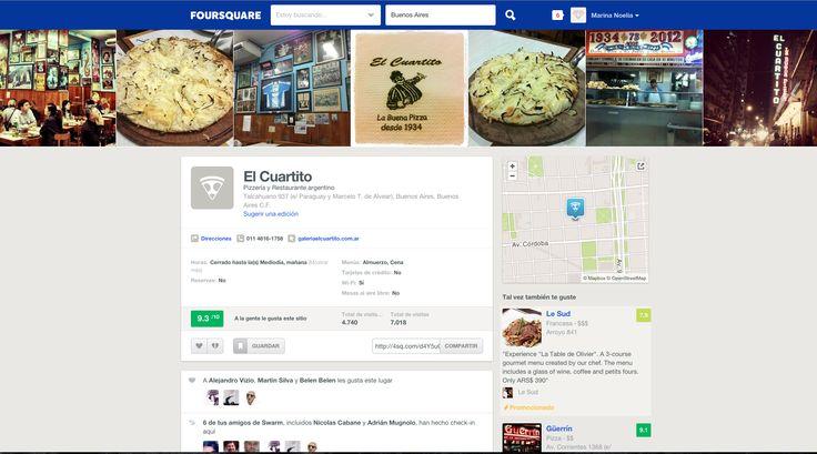 Foursquare - Restaurant Profile - July 2015