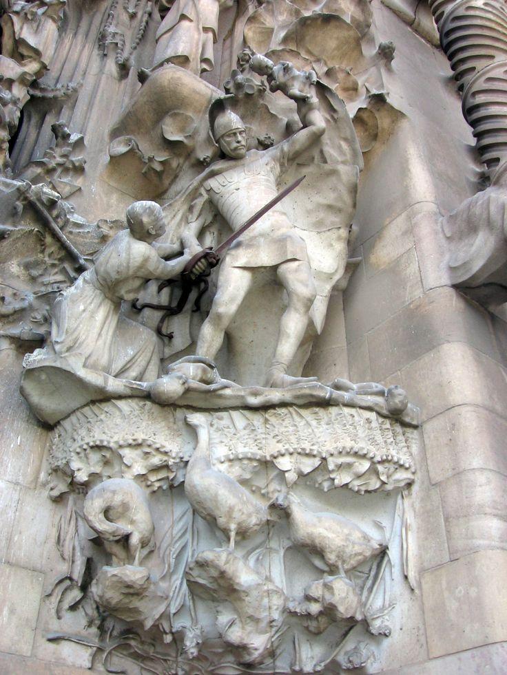 La Sagrada Familia. Muerte de los Santos Inocentes. Barcelona, España