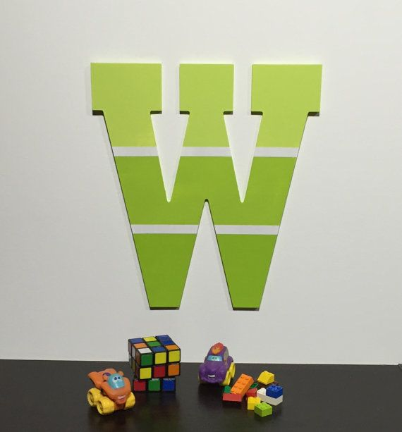 Letter W Paint Chip Inspired Wooden Letters by IronRidgeDesigns