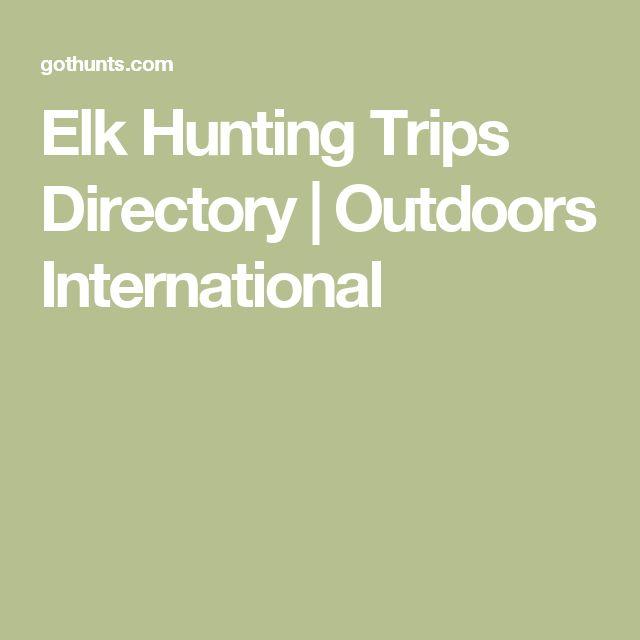 Elk Hunting Trips Directory | Outdoors International