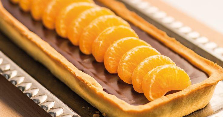 #mazurek z mandarynkami i #czekolada. #chocolate #mandarin #fruits #delektujemy