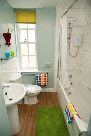 A new bathroom at Tannery Square, in one of the flats