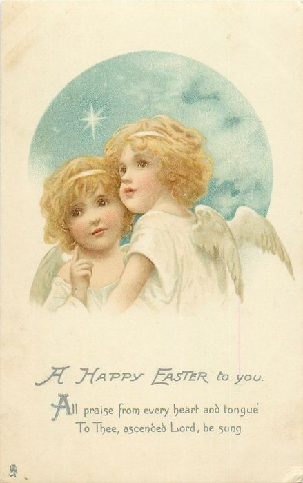 A HAPPY EASTER TO YOU  two young angels