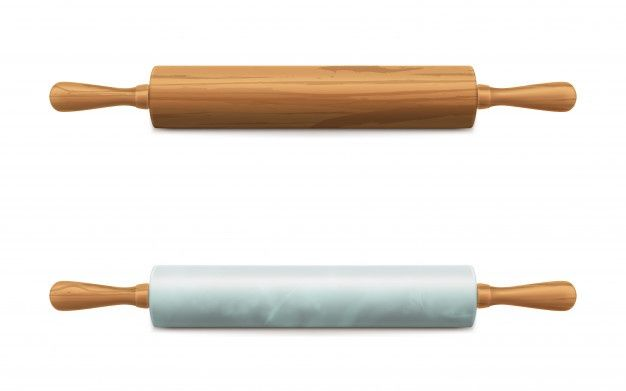 Download Wooden And Marble Stone Rolling Pins Vector For Free Rolling Pin Marble Stones Vector Free