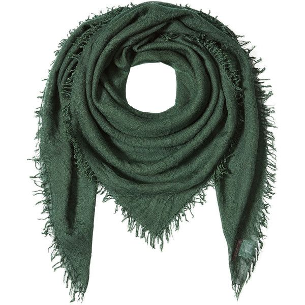 Faliero Sarti Scarf ($270) ❤ liked on Polyvore featuring accessories, scarves, green, fringe shawl, green shawl, fringe scarves, faliero sarti and green scarves