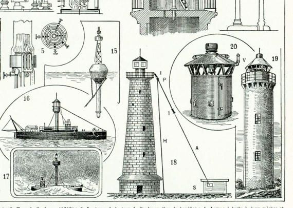 "Antique print taken from the ""Encyclopédie Larousse"", Paris, France. Pretty thick paper, not too glossy.  Page size is apprx 23,5 x31,5 cm (9,25 x 6.7 inches).  Condition I... #dictionary #larousse #illustration #lighthouse #ancient #lighting #construction"