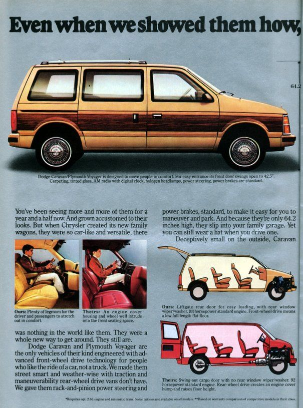 Dodge Caravan Plymouth Voyager Vans 1985 Vehicles Pinterest