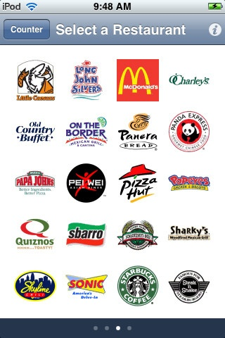 Fast food coupons app iphone