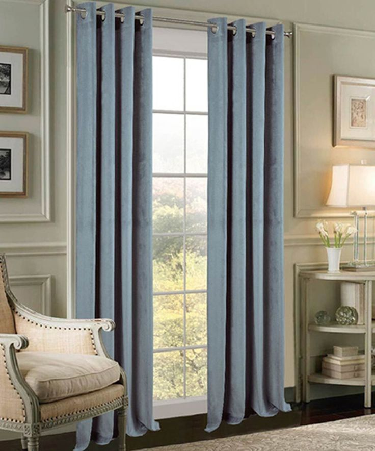 Take a look at this Blue Velvet Extra-Wide Curtain Panel - Set of Two today!