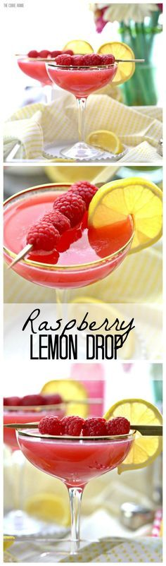 There's nothing better than a sweet Raspberry Lemon Drop Martini! Easy to make and perfect for Spring and Summer! Favorite Cocktail!