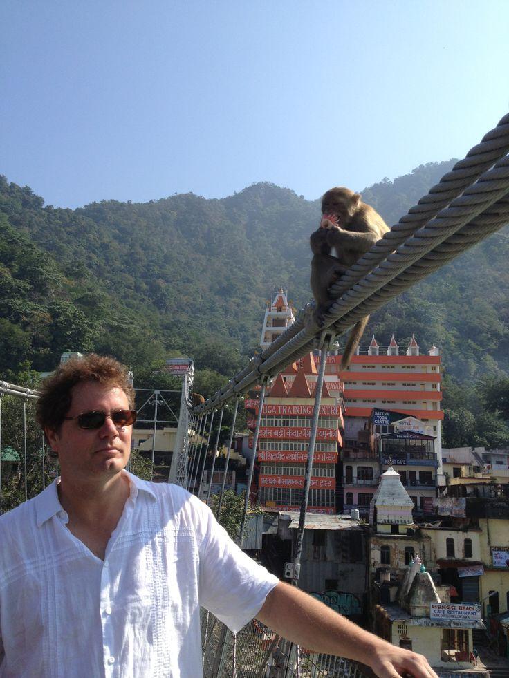 Ram Jhula Bridge Rishikesh, India http://www.InnerOuterYou.com