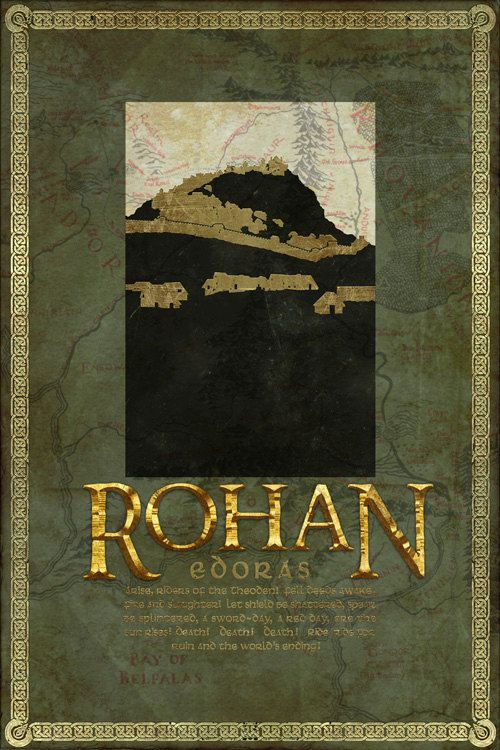 Rohan Travel Poster from The Lord Of the Rings and the Hobbit - Tolkien