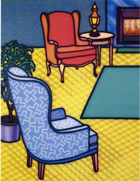 Interior Tableau by Howard Arkley, 1992
