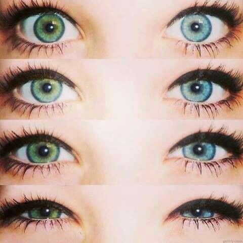 Heterochromia iridum | Eyes | Pinterest | Green and Blue