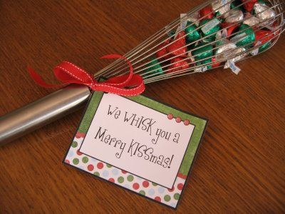 We Whisk you a Merry Christmas Super cute christmas gift idea for friends or family! I love it! #DIY #Creative #Cheap See more Christmas gift ideas here~ http://www.pinterest.com/sassydealz/diy-christmas-gift-ideas/