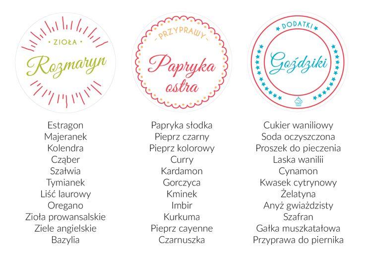 Masz ochotę na etykiety na przyprawy? Możesz je mieć! Wejdź na nasz blog i dowiedz się, jak zorganizować swoją kuchnię!
