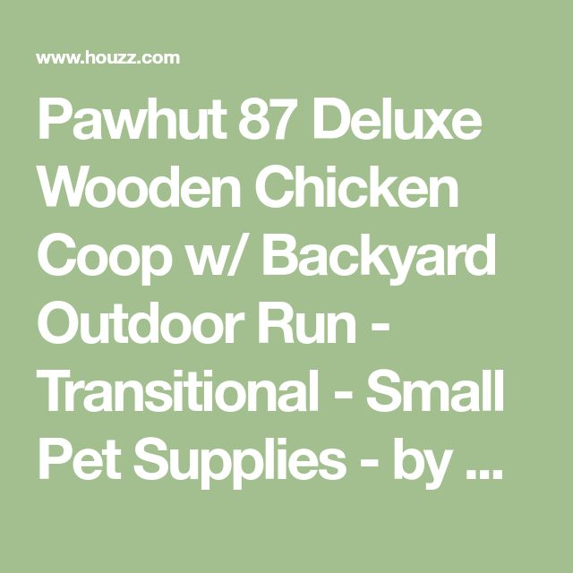 Pawhut 87 Deluxe Wooden Chicken Coop w/ Backyard Outdoor Run - Transitional - Small Pet Supplies - by Aosom