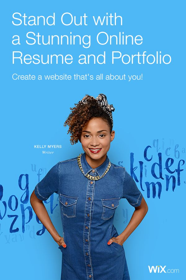 Wix has everything you need for your resume or portfolio. Create your own today!