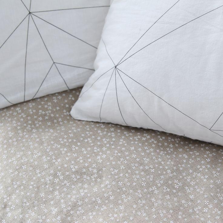 Starry night duvet cover and Geometric web pillowcase