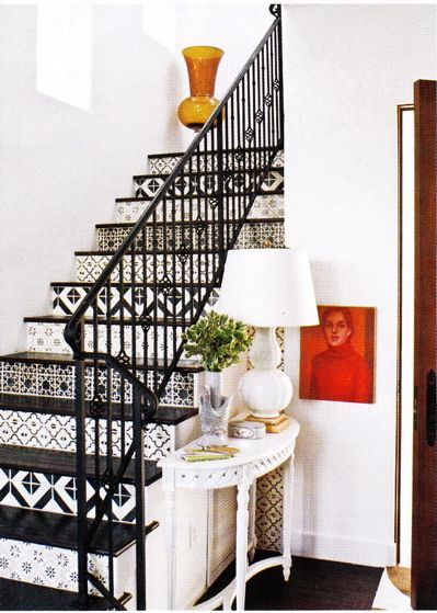 Patterned stairs. obviously i'm doing this