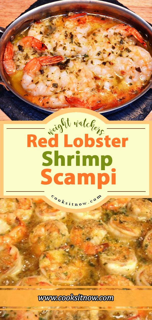 Famous Red Lobster Shrimp Scampi  Weight Watchers Smart Points Friendly #WW #Wei…