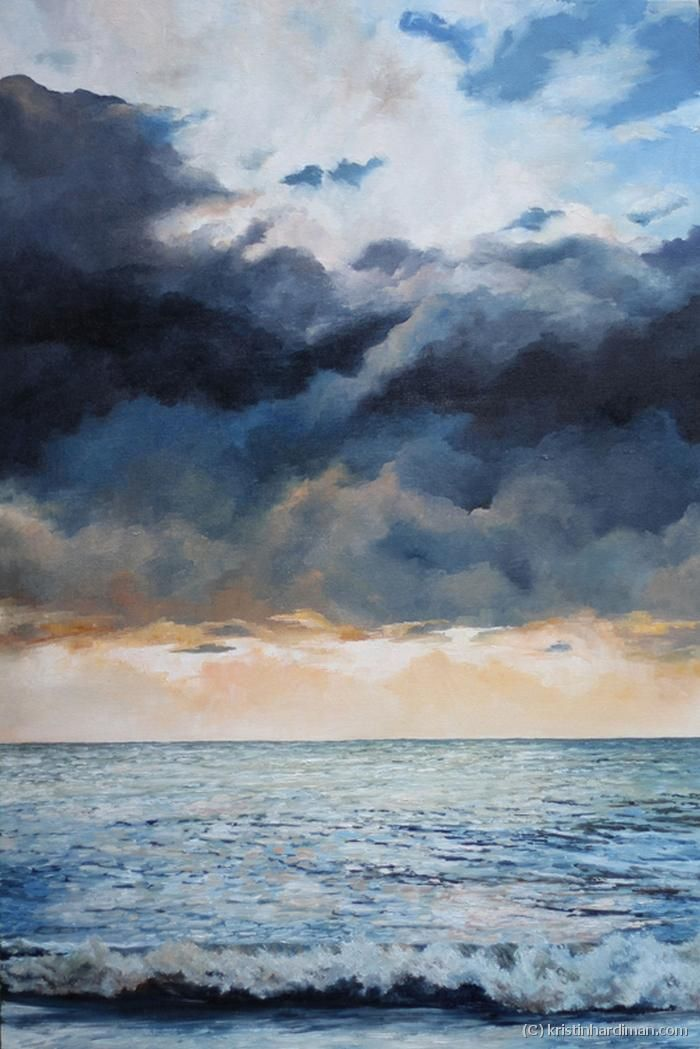 Impending Storm - Oil on Canvas 61 x 92cm (24″ x 36″) Scotts Head NSW