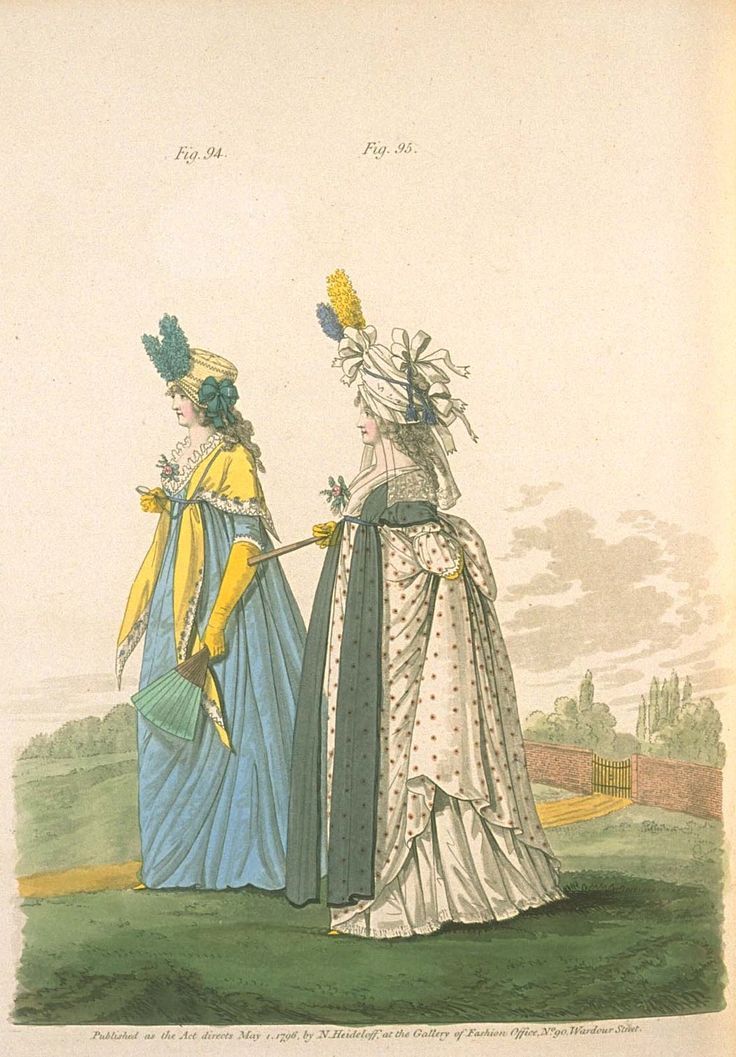 Gallery of fashion May 1796 - Morning dresses