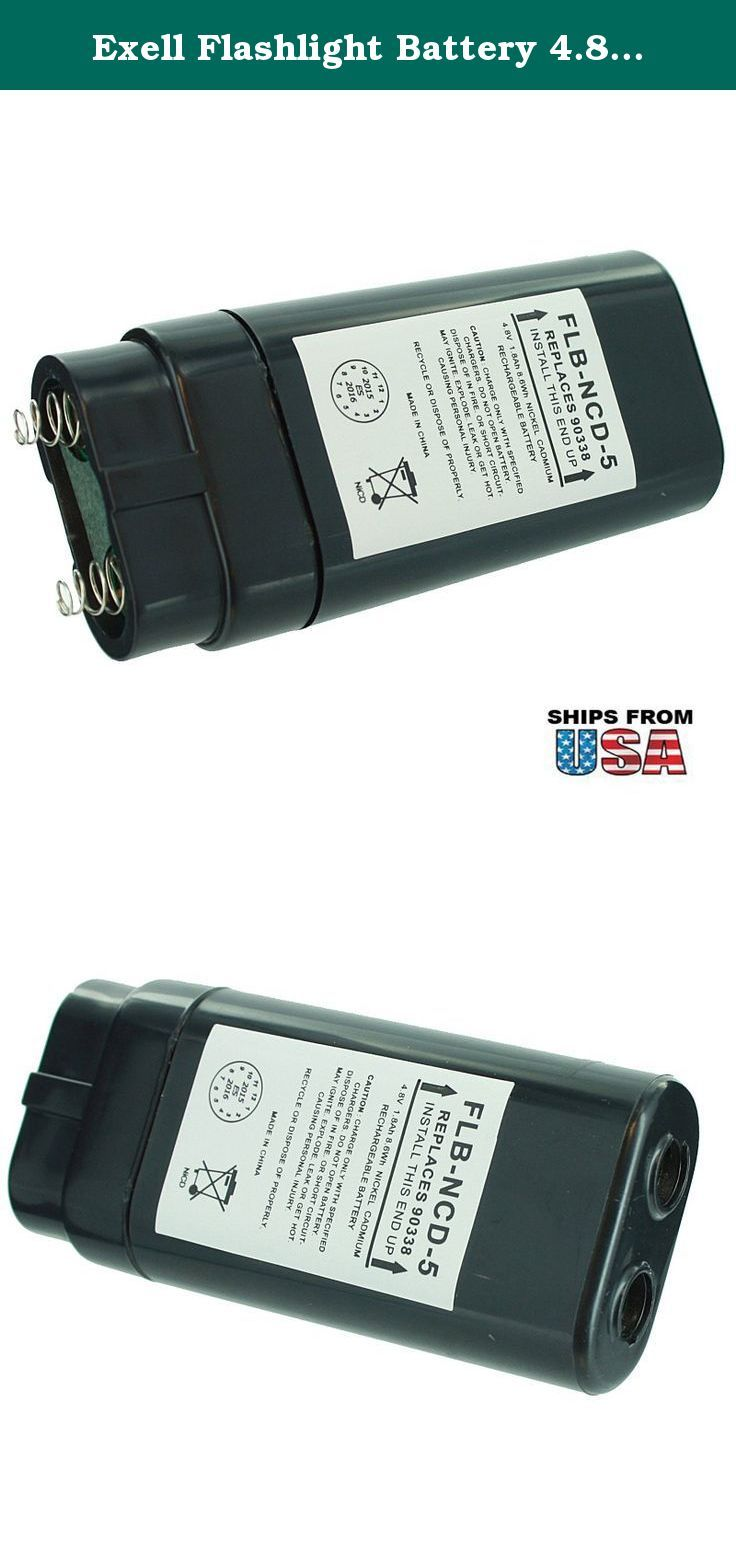 Exell Flashlight Battery 4.8V 1800mAh NICD For Streamlight Survivor FAST USA SHIP. Exell Flashlight Battery 4.8V 1800mAh NICD Fits Streamlight Survivor Division II Exell Batteries not only provide consumers with high efficiency, long-lasting performance, they also function as replacement batteries for an array of common and unique applications. Ranging from vintage camera equipment to sophisticated medical testing equipment, Exell Batteries can meet the needs of all consumers.Exell…