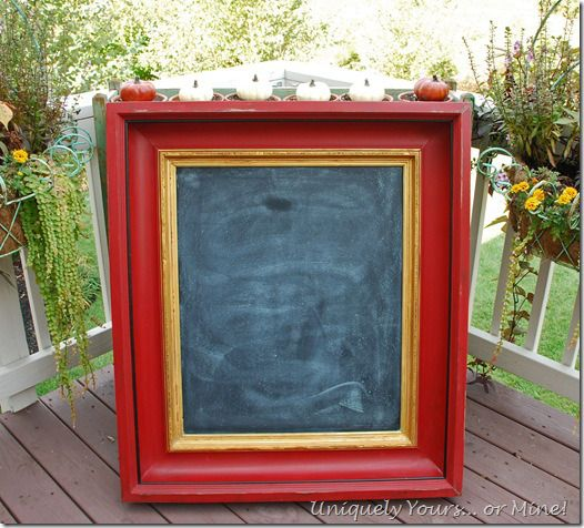 love this red... chalk paint with chalkboard paint!