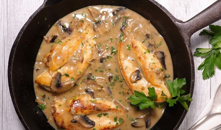 Κοτόπουλο με κρασί Marsala, μουστάρδα και μασκαρπόνε