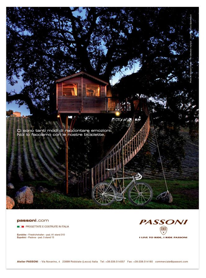 Passoni Print Campaign: Italian luxury bicycle manufacturer.