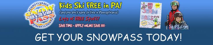 It's BACK! 4th & 5th graders from anywhere can ski and ride for free in PA with the PA Snowpass! It allows kids free snow fun when accompanied by a paying adult. Get the details and order online today: https://skipa.com/deals/4th5th-grade-program/getting-started