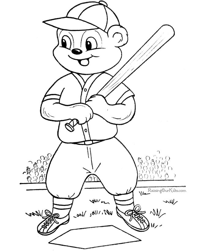 baseball picture to print and color baseball coloring getgrizzlie - Boy Coloring Pages To Print