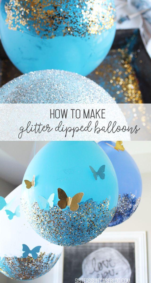Glitter Balloon Tutorial - My Sister's Suitcase