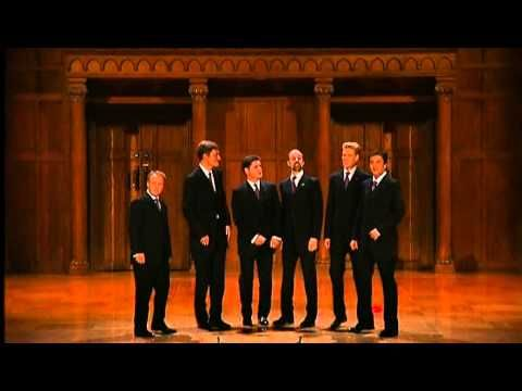 The King's Singers - Masterpiece (with subtitles) - Paul Drayton  singing classical composer names