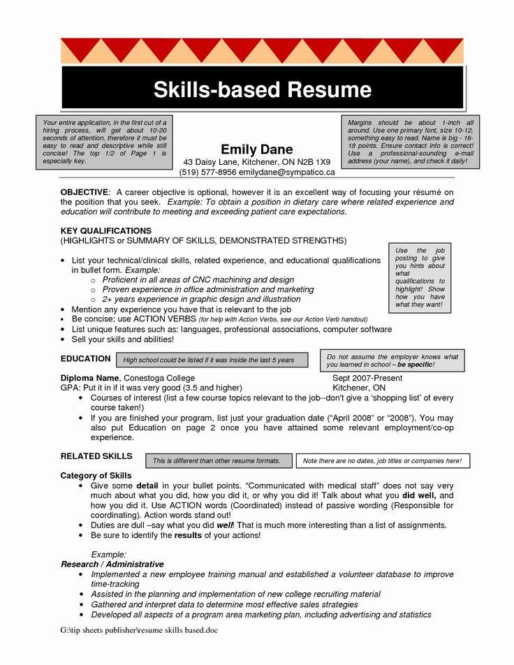 Experience Based Resume Template Fresh Skills Based Resume