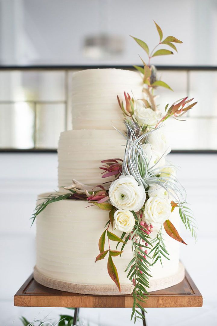 Fresh Flowers & Wedding Cakes, A Perfect Combination ~ modern look : The Butter End; Wisteria Lane; Mieke Snepvengars