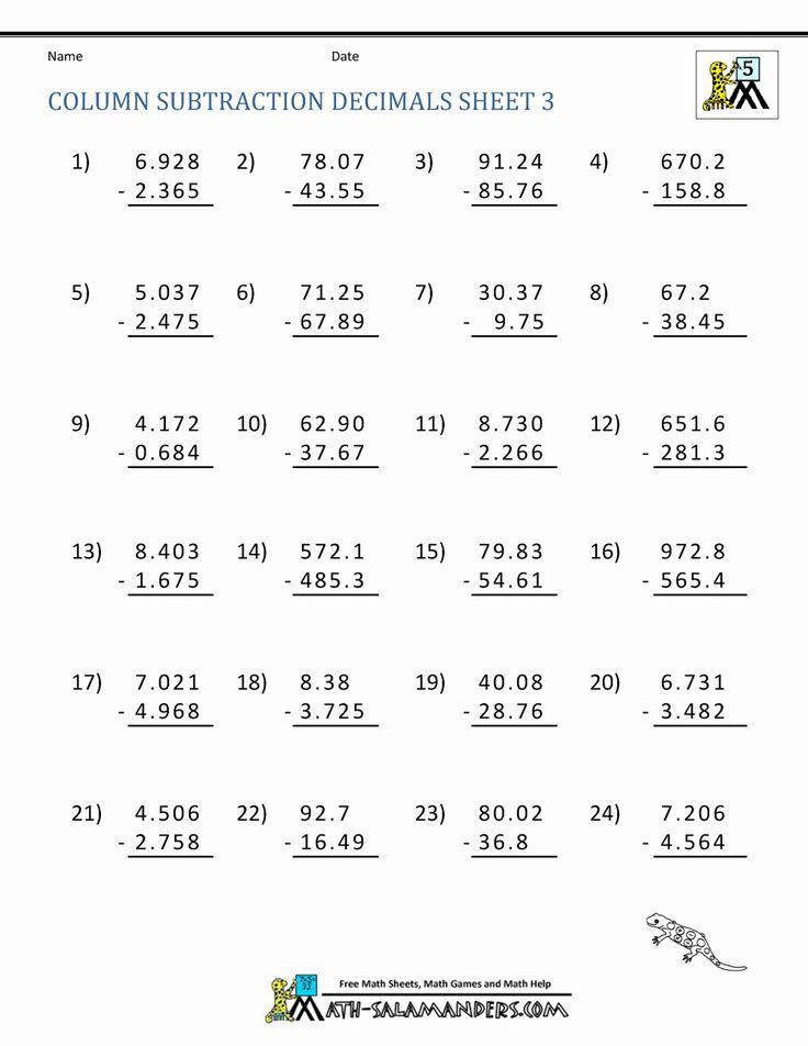 Worksheet Math 5th Grade in 2020 | Math practice ...