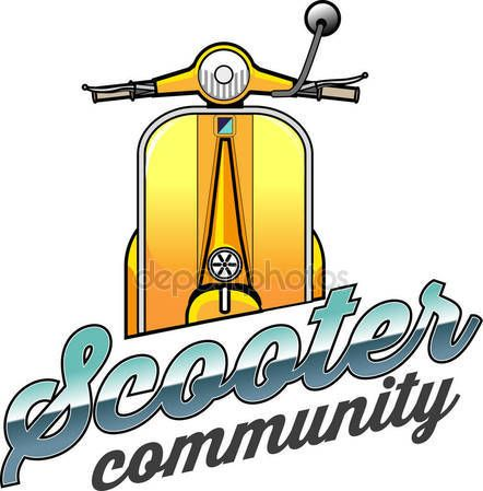 Download - Vector Illustration Scooter Vespa Community Symbol — Stock Illustration #175796798