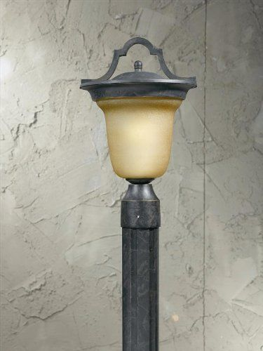 Triarch 78205-12 Fluorescent Head Post Mount Light, English by Triarch. $142.20. Finish:English Bronze, Glass:Frosted Amber, Light Bulb:(1)13w Spiral GU24 CFL  It features a hand-painted English Bronze finish. It comes with a 13 watt PL bulb that provides the equivalent of over 60 watts from an ordinary bulb and lasts up to 5 times as long.