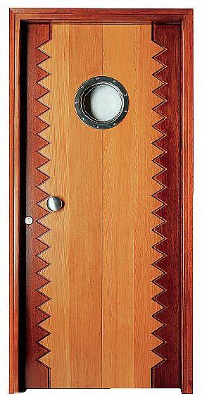 Porta battente / in legno / con oblò MARINE interSCALA